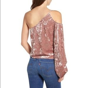 NWOTs LEITH • Blush Velour Crushed Top Blouse